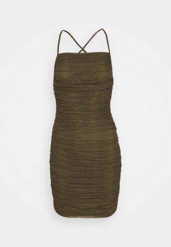RUCHED DRESS - Koktejlové šaty/ šaty na párty - brown