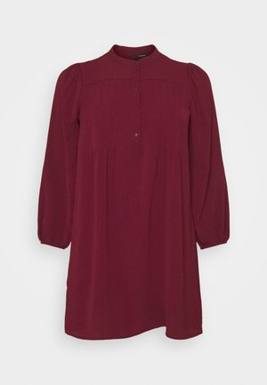 VMSAGA PLEAT SHORT DRESS  - Day dress - cabernet