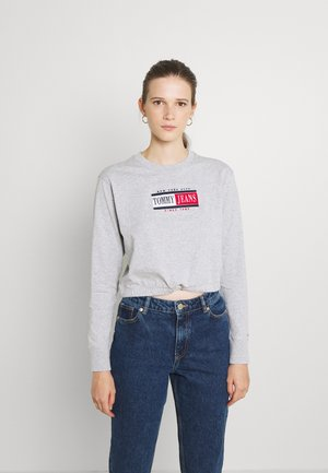DRAWCORD TIMELESS - Long sleeved top - light grey heater