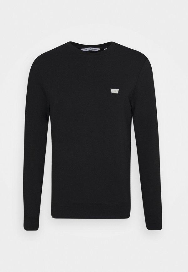 Antony Morato ROUND NECK COLLAR WITH PLAQUETTE - Bluza - black/czarny Odzież Męska AIXL