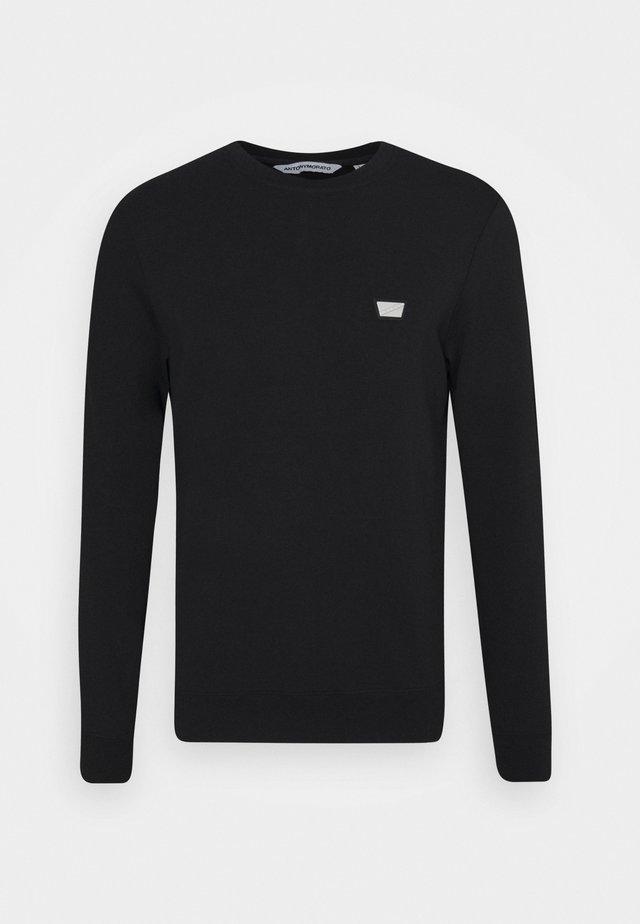 ROUND NECK COLLAR WITH PLAQUETTE - Sweatshirt - black