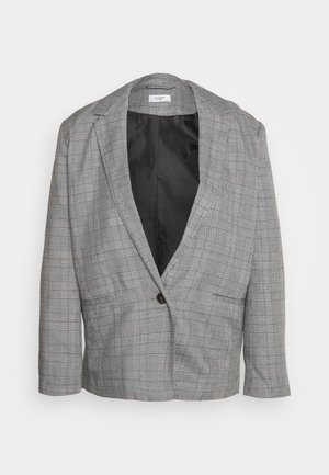 JDYTARA LONG  - Blazer - dark grey melange/blue