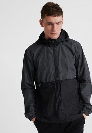 SUPERDRY PACKAWAY OVERHEAD CAGOULE JACKET - Summer jacket - black reflective