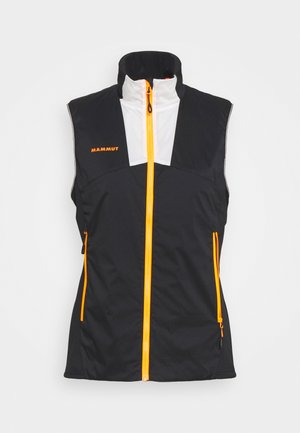 RIME LIGHT IN FLEX VEST WOMEN - Waistcoat - black/white/vibrant orange
