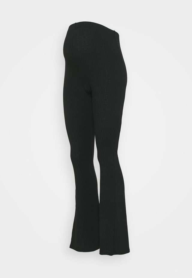 FLARE LEGGING - Bukse - black