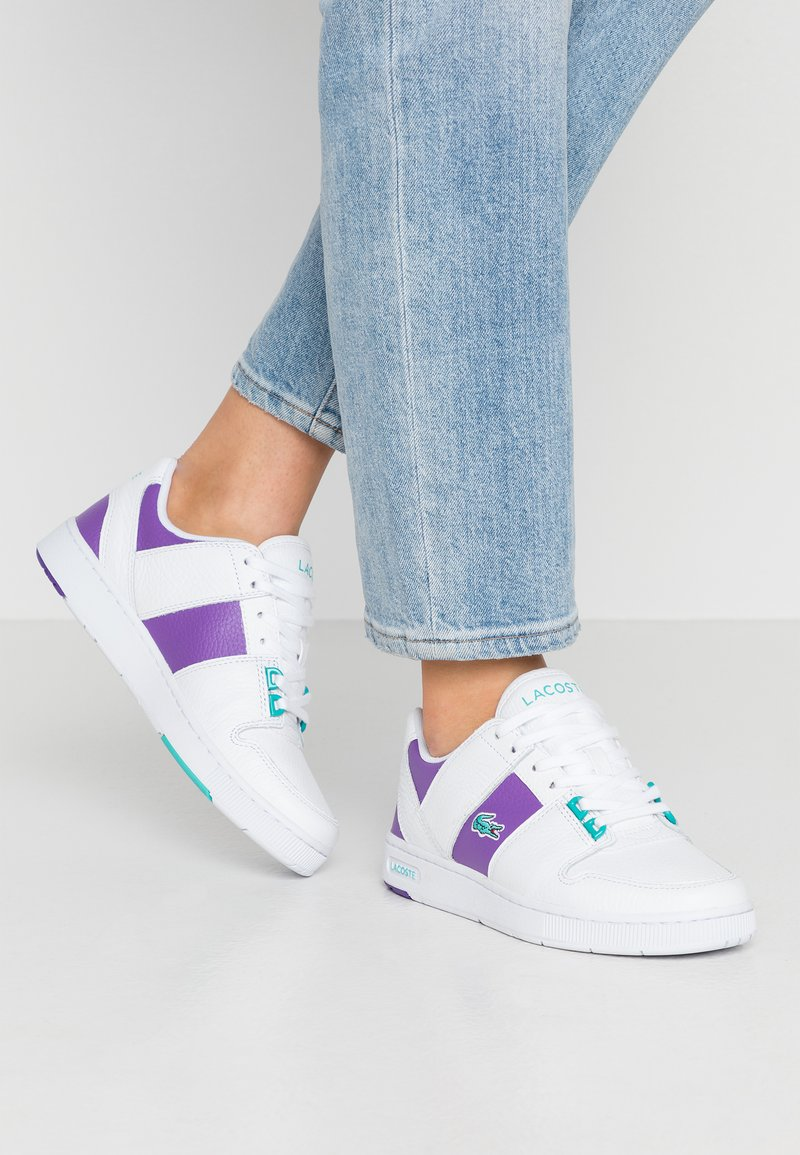 Lacoste - THRILL - Sneakers - white/purple