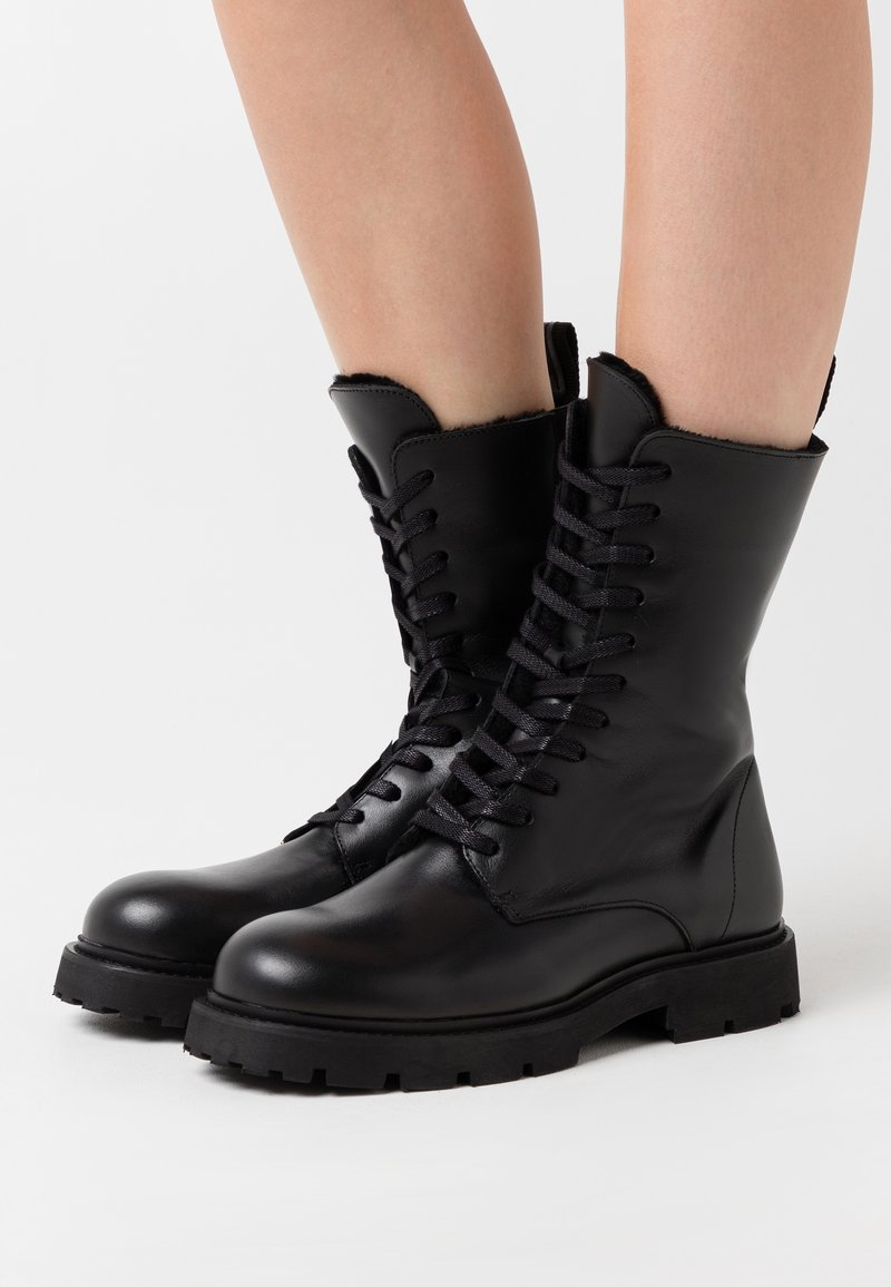 Filippa K - KRISHA LACED BOOT - Lace-up boots - black