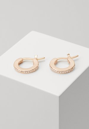 PAVE HUGGIE EARRINGS - Pendientes - rose gold-coloured