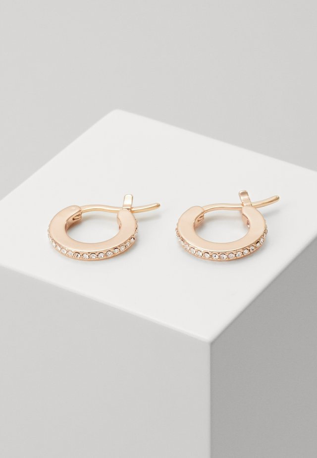 PAVE HUGGIE EARRINGS - Boucles d'oreilles - rose gold-coloured
