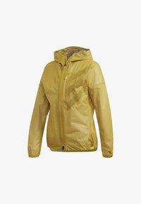 adidas Performance - TERREX AGRAVIC RAIN JACKET - Regnjakke / vandafvisende jakker - gold - 8