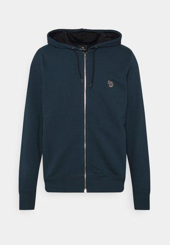 REG FIT ZIP HOODY UNISEX - Zip-up sweatshirt - dark blue