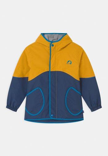 AARRE UNISEX - Waterproof jacket - golden yellow/nautic