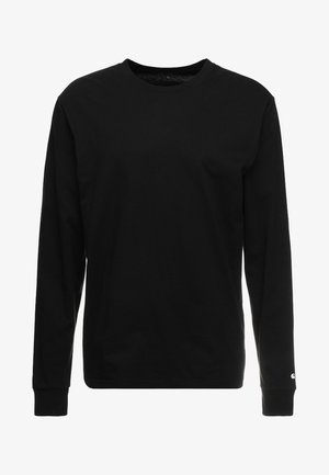 BASE - Long sleeved top - black/white