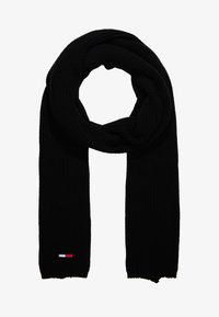Tommy Jeans - BASIC FLAG SCARF - Scarf - black - 1
