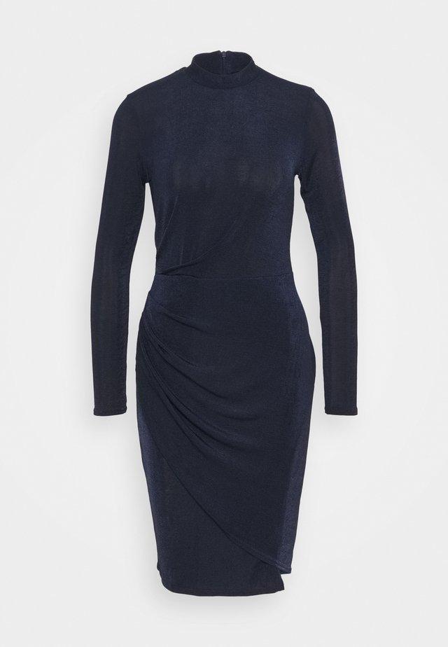 CLOSET HIGH NECK PENCIL DRESS - Trikoomekko - navy
