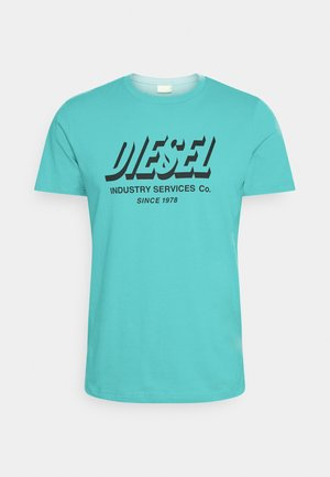 DIEGOS UNISEX - T-shirt print - turquoise