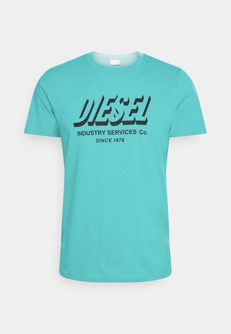 Diesel - DIEGOS UNISEX - Print T-shirt - turquoise