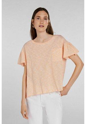 Print T-shirt - white yellow/or