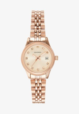 LADIES WATCH ROUND CASE - Watch - rose gold-coloured