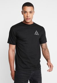 HUF - DYSTOPIA TEE - Print T-shirt - black - 2