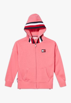 GLOBAL STRIPE DETAIL - Mikina na zip - pink