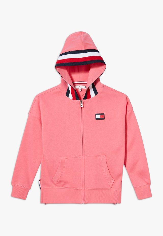 GLOBAL STRIPE DETAIL - veste en sweat zippée - pink