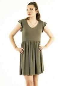 ONLY - Jersey dress - vert - 0