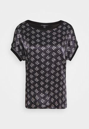 BLOCK TEE - Print T-shirt - black