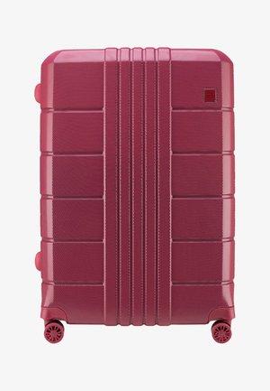 Wheeled suitcase - dark red