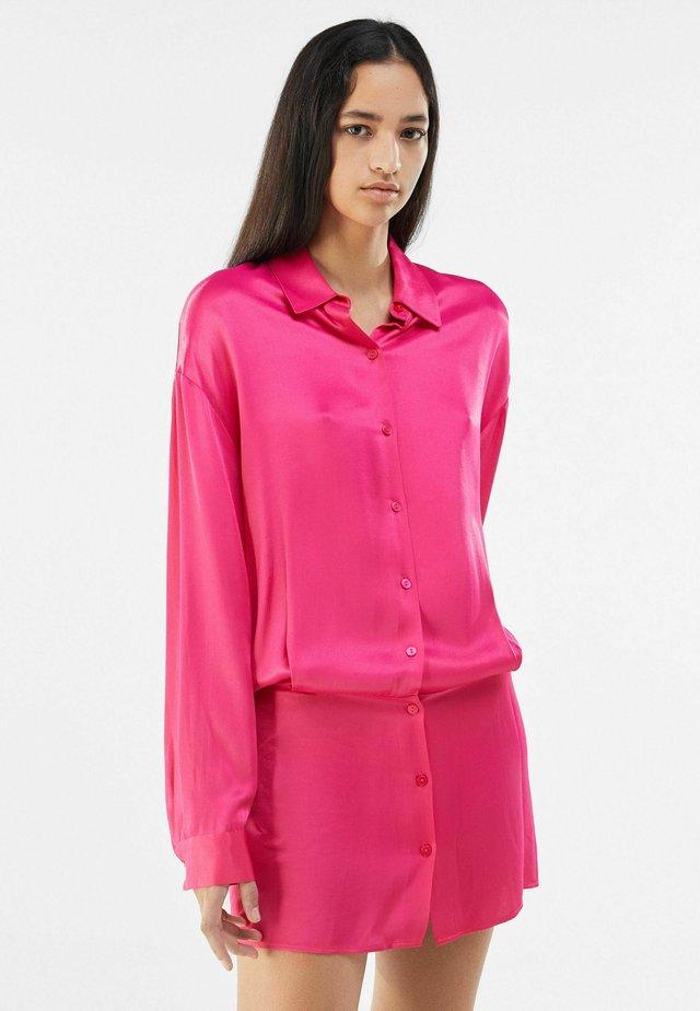 Robe chemise - neon pink
