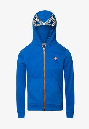 Mikina na zip - electric blue