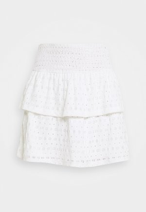 PCCHRISTY SMOCK SKIRT - Mini skirt - cloud dancer