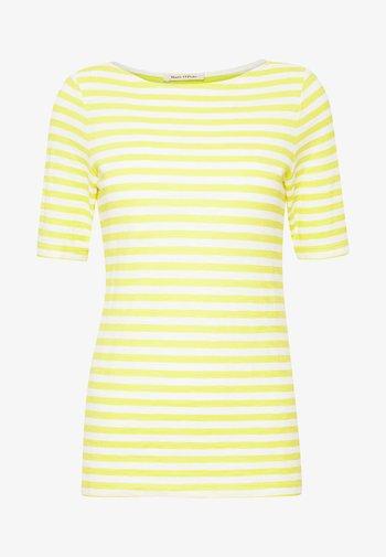 SHORT SLEEVE BOAT NECK STRIPED - Print T-shirt - multi/sunny lime