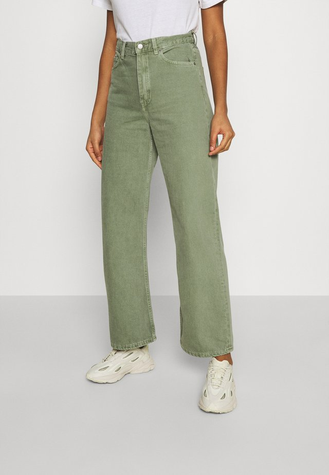 ECHO - Jeans straight leg - washed green