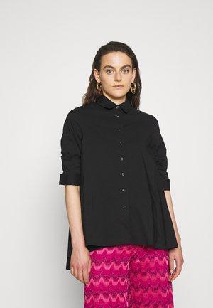 BENITA FASHIONABLE BLOUSE - Button-down blouse - black