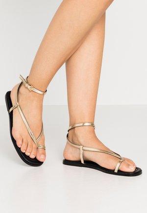 Sandalias de dedo - gold