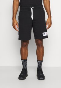 Champion - BERMUDA - Pantaloncini sportivi - black/white - 0
