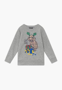 Blue Seven - KIDS CHRISTMAS DOG  - Sweater - nebel - 0