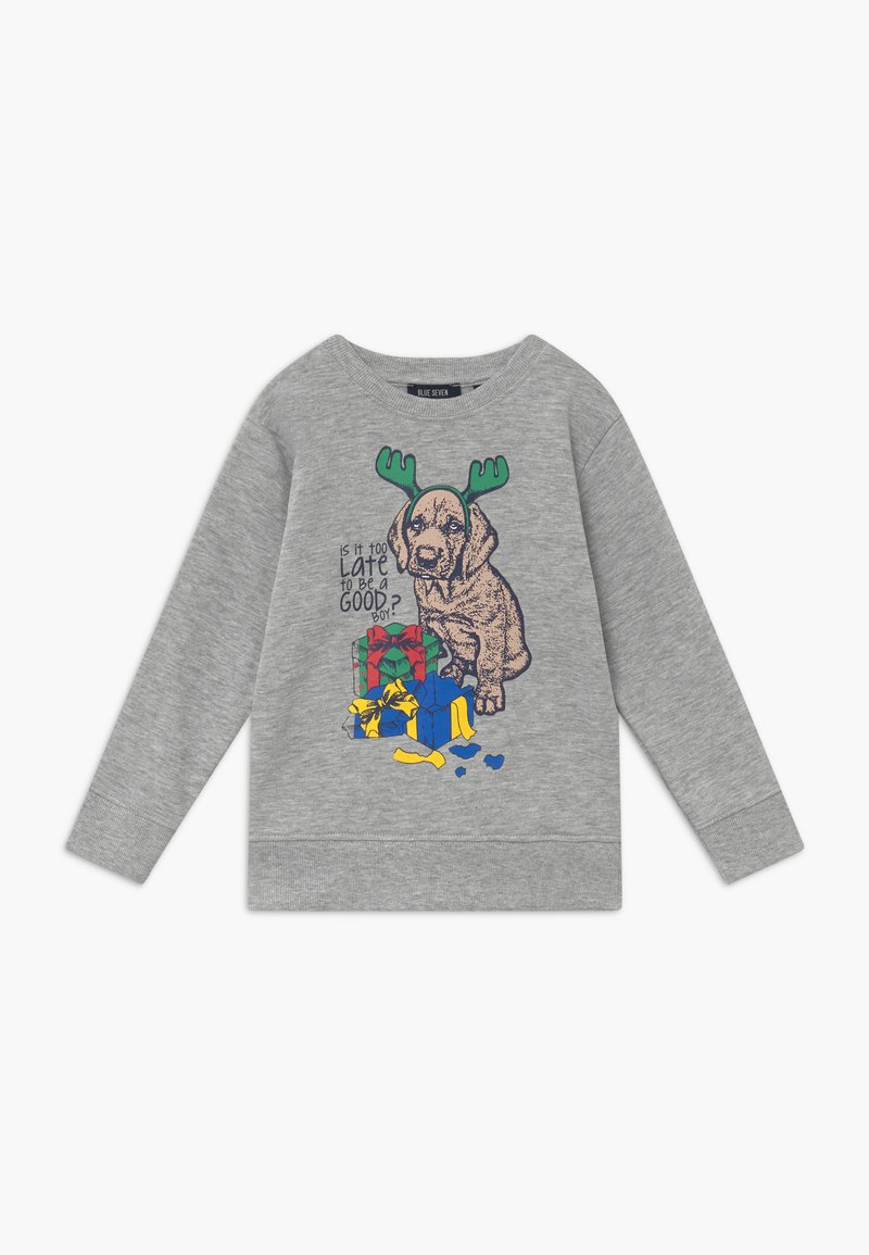 Blue Seven - KIDS CHRISTMAS DOG  - Sweater - nebel