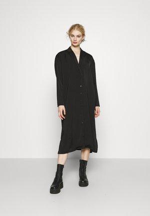 LONG SOFT DRESS - Shift dress - black