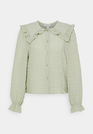 NAIMA BLOUSE - Button-down blouse - green dusty light