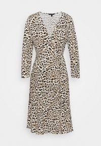 MATTE WRAP - Day dress - cheetah