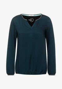 Cecil - BLUSE MIT MINIMAL PRINT - Long sleeved top - dark green - 3