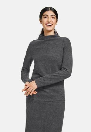 Long sleeved top - charcoal melange