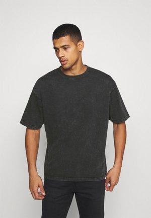 YORICK - T-shirt med print - vintage black