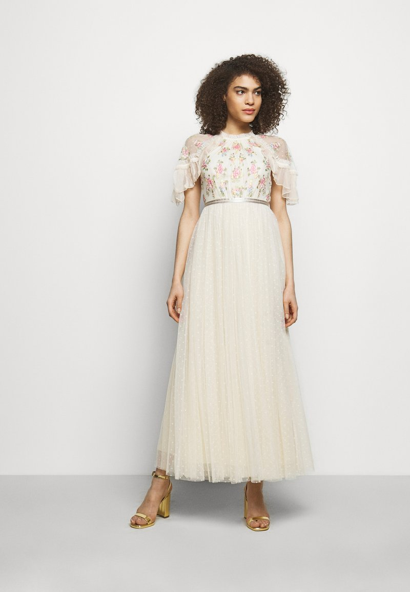 Needle & Thread - EMMA DITSY BODICE ANKLE MAXI DRESS - Společenské šaty - champagne