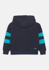 Fila - ANTONIO TRACK JACKET - Zip-up hoodie - black iris/capri breeze - 1