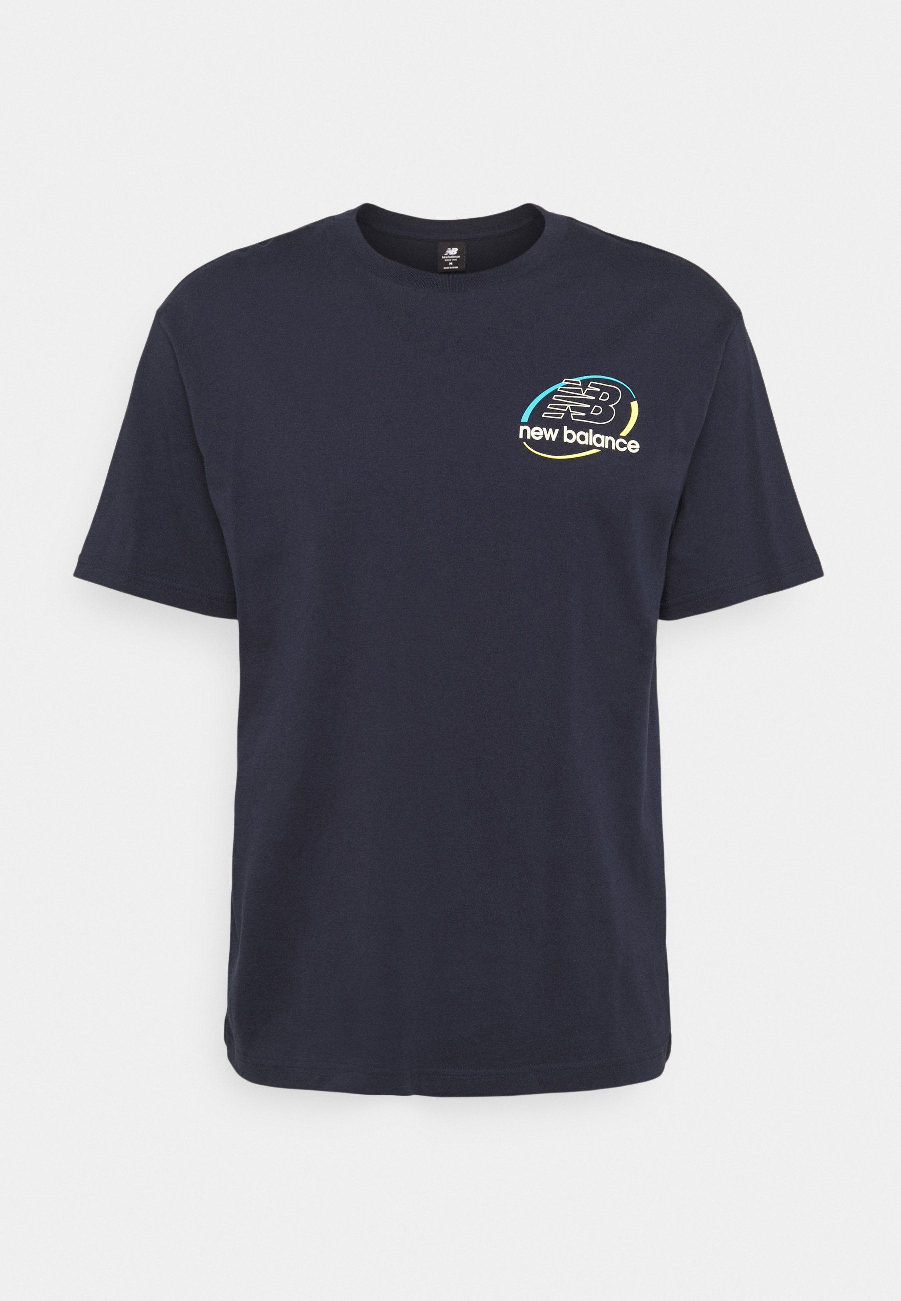 Men ATHLETICS CIRCULAR STACK TEE - Print T-shirt