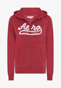 AÉROPOSTALE - Zip-up hoodie - red - 4