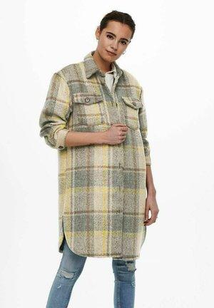 Klassisk frakke - light grey melange